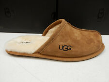 UGG MENS SLIPPERS SCUFF SUEDE CHESTNUT SIZE 10