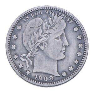 Better 1908-O - US Barber 90% Silver Quarter Coin Collection Set Break *216