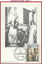 ITALIA MAXIMUM MAXI CARD ROMA 551 MARIO SIRONI CIVILTà DEL LAVORO 1985 B836