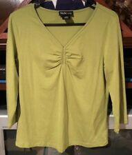 Style & Co. Celery Green 3/4 Sleeve Top Size M