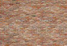 Fototapete BACKSTEINE 368x254 modern Mauer Ziegel-Wand rote Backstein Steinwand