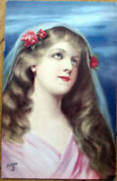 1910 Tuck 'Beauty's Realm' Postcard: Blonde Woman, Artist-Signed - #4