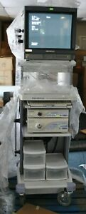 Olympus Endoscopy, EVIS Excera CV-160, CLV-160, Cart, Keyboard, Monitor, PigTail