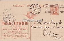 BOLOGNA 1925 Intero  postale Michetti c. 30 pubblicitario Verardi B. x Copparo