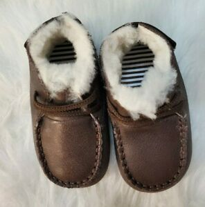 Robeez Cooper Cozy Boot Goat Leather 6-12 Months New Espresso HB-3