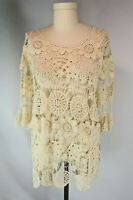 Grace & Lace Crochet Tunic Top XL NWT See Through Cover-Up