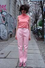 Damen Shirt Top Rosa Altrosa 60er True VINTAGE 60s women spring top nylon blouse