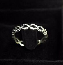 GENUINE 925 Sterling Silver Adjustable Ring Infinity Love Womens Jewelry Gift UK