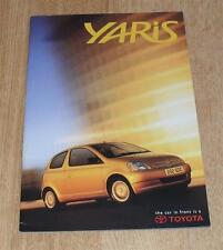 Toyota Yaris 1.0 Brochure 1999 - S GS GLS CDX