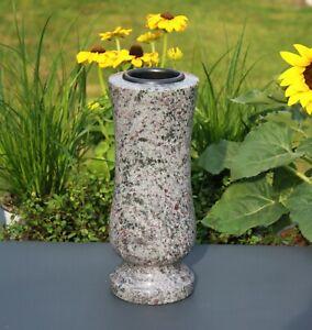 Vase SteinVase Granitvase aus hellem Orion für Haus Garten Grab