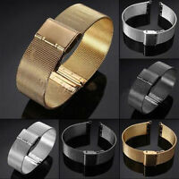 0Milanese StainlessSteel Watch Mesh Band Strap Double Clasp Bracelet 18/20/22/24