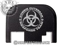 for Glock Rear Plate 17 19 21 22 23 27 30 34 36 41 Blk G1-4 Zombie Response 2