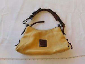 Dooney & Bourke D&B Camel and Dark Brown shoulder purse bag satchel leather GUC