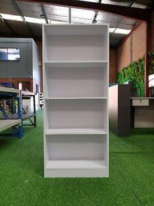 4 Tier Display Shelf Bookcase Book Storage Cupboard Cabinet Rack Home Office