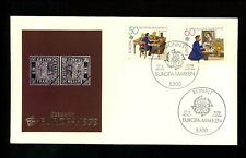 Postal History Germany Fdc #1291-1292 Europa telegraph post office 1979