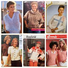 6 Ladies Knitting Patterns Jumpers Cardigan Jacket Tops Bundle Job Lot  YE239