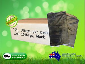 Rubbish Garbage Plastic Bags Bin Liners 72L-77L HEAVY DUTY  (250 bags)
