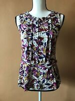 Marc By Marc Jacobs Floral Half Button Sleeveless Blouse Shirt Top Size XS