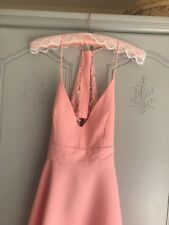 Ladies Size S Peach Dress From YONIS Stretch Polyester New Dip Hem