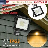Waterproof 100W PIR Motion Sensor Flood Light Outdoor LED Lights Security Lamp