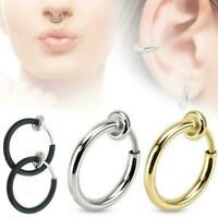 Ear Clip Unisex Jewelry Nose Septum Non Piercing Ring Fake Spring Ear Cartilage
