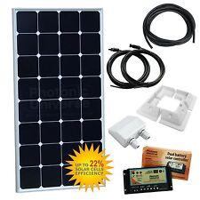 100w 12v Doble Batería Carga Solar Kit Caravana Casa Rodante Camper Van Barco 100 vatios