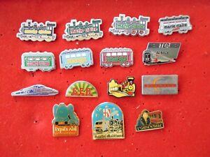 lot de pin's sur les trains