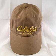 Cabela's Club Cap Beige Tan Adult Cap Hat Adjustable Strap