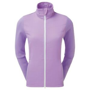 FootJoy Ladies Thermal Quilted Golf Jacket Colour:Orchid Purple White Size: M a