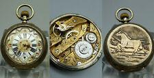 ABPP Antike Taschenuhr Alpenländisch Prunk Uhr Werk 800 Silber Handaufzug