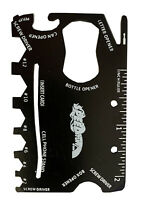 18 in 1 Credit Card Sized Wallet Multitool with Screwdriver, Can Opener, Ruler