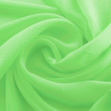 CLEARANCE! Light Green Premium Polyester Chiffon Fabric - By the Yard