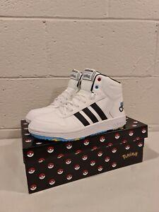 🔥 adidas Pokemon Pikachu White Sneaker kids Tennis Shoes Size 5 us 💥
