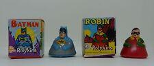 Vintage 1966 Marx Batman & Robin rolykins with Original Box Complet