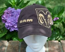 New Dodge Ram Embroidered Brown Strap Back Hat