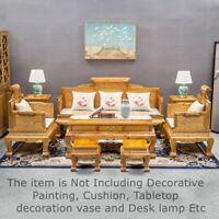 Set of 8 Silkwood Golden Phoebe Wood Palace Chair sofa Coffee table Stool #1185