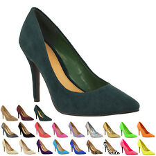 Womens Ladies Mid High Heel Party Prom Stiletto Court Shoes Size 6