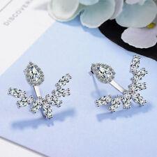 NEW Hot Elegant 925 Sterling Silver AAA Zircon Waterdrop Ear Stud Earrings