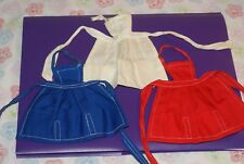 VERY NICE! Vintage Barbie Lot Blue, Red & White Aprons (1962-63)