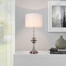 [lux.pro]® Große Tischleuchte Weiß Tischlampe H:88cm Lampe Leuchte Wohnzimmer