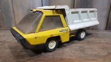 "VINTAGE Toy Dump Truck STRUCTO STEEL 11"" PRESS STEEL YELLOW WORKS NICE TOY"