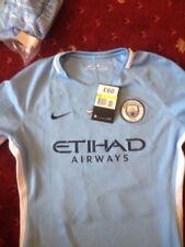 manchester city home womens shirt small NIKE new ( slight fault )(2) silva 21