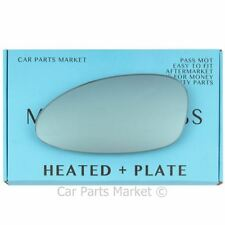Left side Blue Wing mirror glass for Porsche 968 92-95 heated + plate