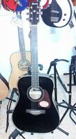 Ibanez Artwood acoustic AW70ECE-BLK 2014 blk Solid top-FORTMADISONGUITARS