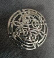 Vtg Scarf Clip Silvertone Celtic Knot