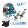 Philips H1 Lampe X-treme Vision +130% mehr Licht 2St.+ Cuby LED Taschenlampe