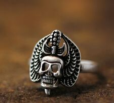 Chief Skull Head Ring Funny Ring Adjustable Unique Jewelry Ring gift Idea