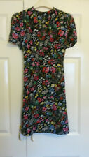 Black floral knee length tea dress from Topshop size 12 (but more like size 10)