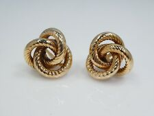 14K GOLD GORDIAN  KNOT EARRINGS