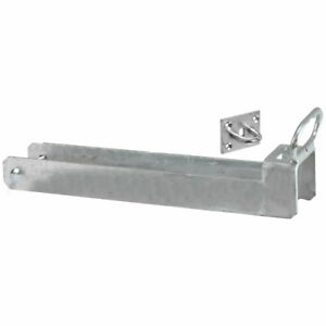 156/L Lockable Throw Over Gate Loop with Lifting Handle 450mm x 75mm - Galvanise